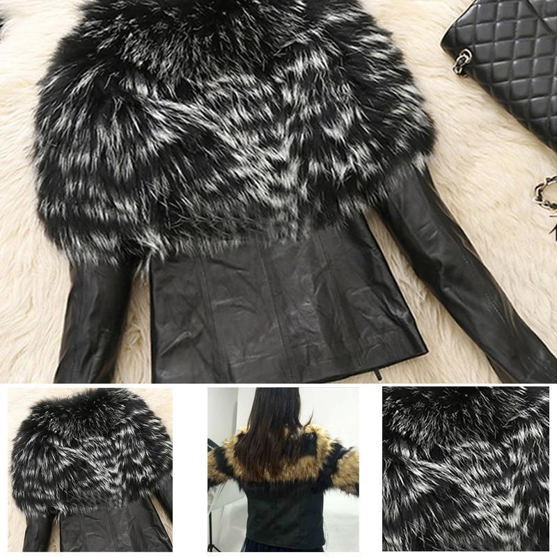 Faux Fur and Leather Jacket - MISSINSTYLE