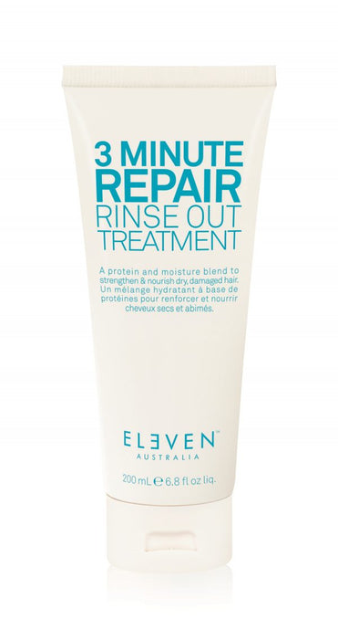 eleven 3 minute treatment in a white tube