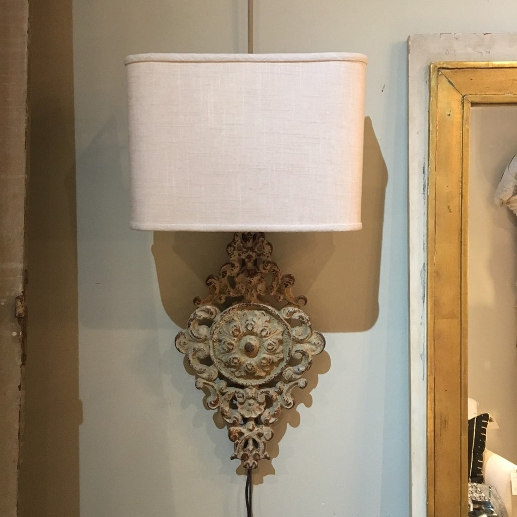 Pair of White Washed Iron Sconces