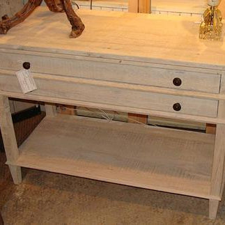 Reclaimed Wood Table with 2 Drawers