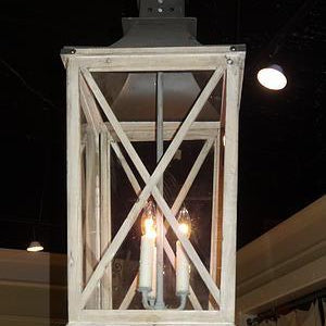 Cornwell Metal and Wood Lantern