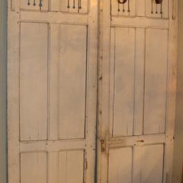 Pair of Architectural Doors with Slotted Details