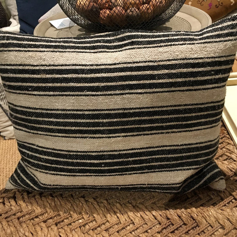 Black and White homespun Pillow