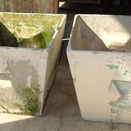Cement Tapered Square Planter