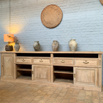 Bleached Oak Pharmacy Enfilade