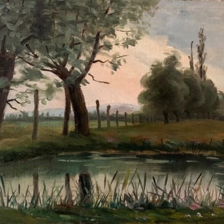 Painting - Pond with Trees