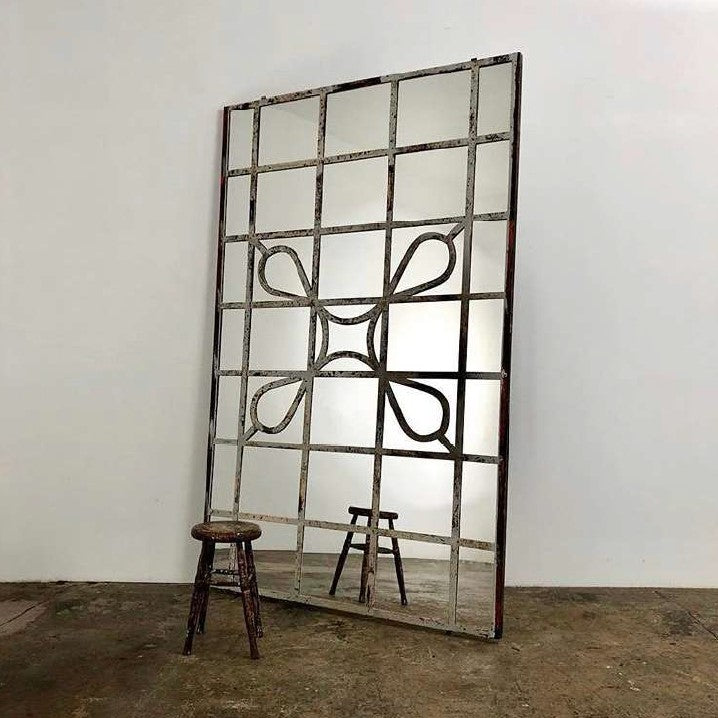 Architectural Iron Mirror
