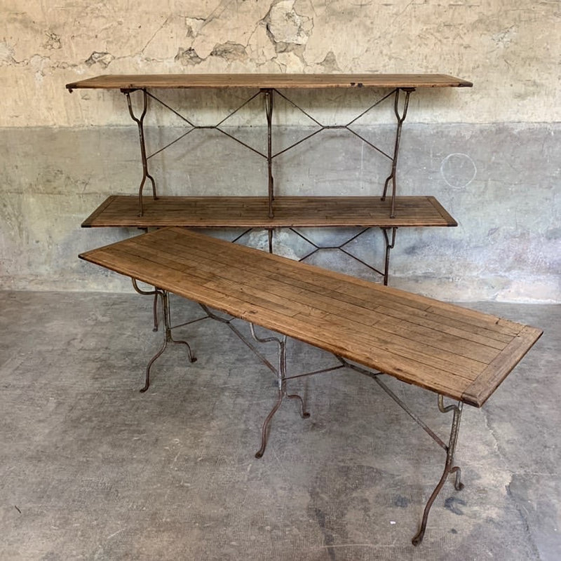 3 Wood And Iron 3 Support Bistro Tables