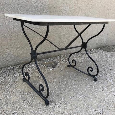 Garden Table with marble top