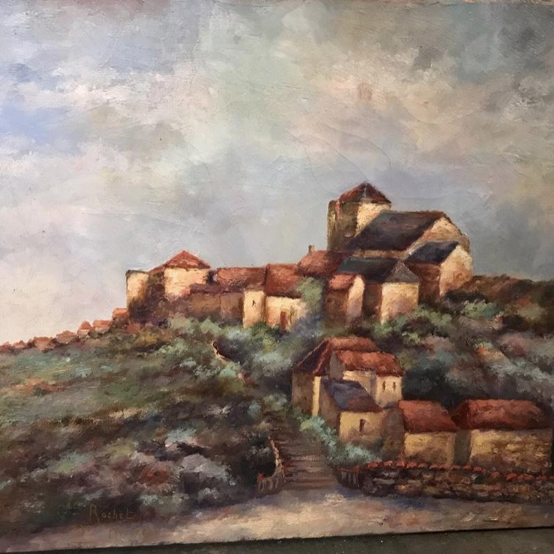 Oil on canvas- outside Lyon