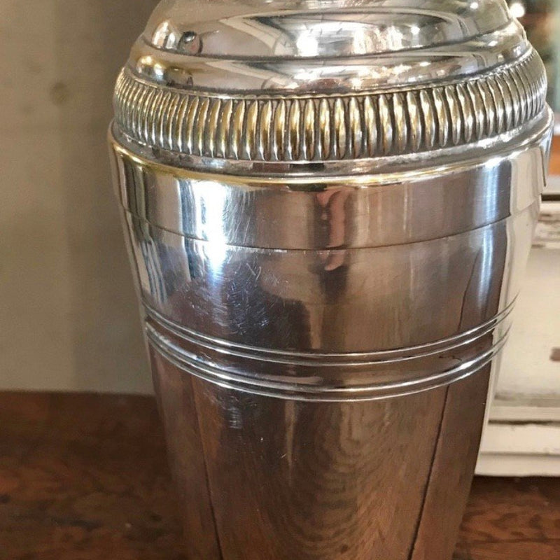 French Silvered Cocktail Shaker