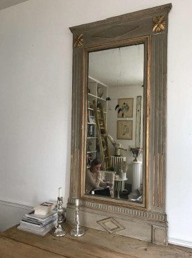 Directoire Mirror in Grey & Gilt