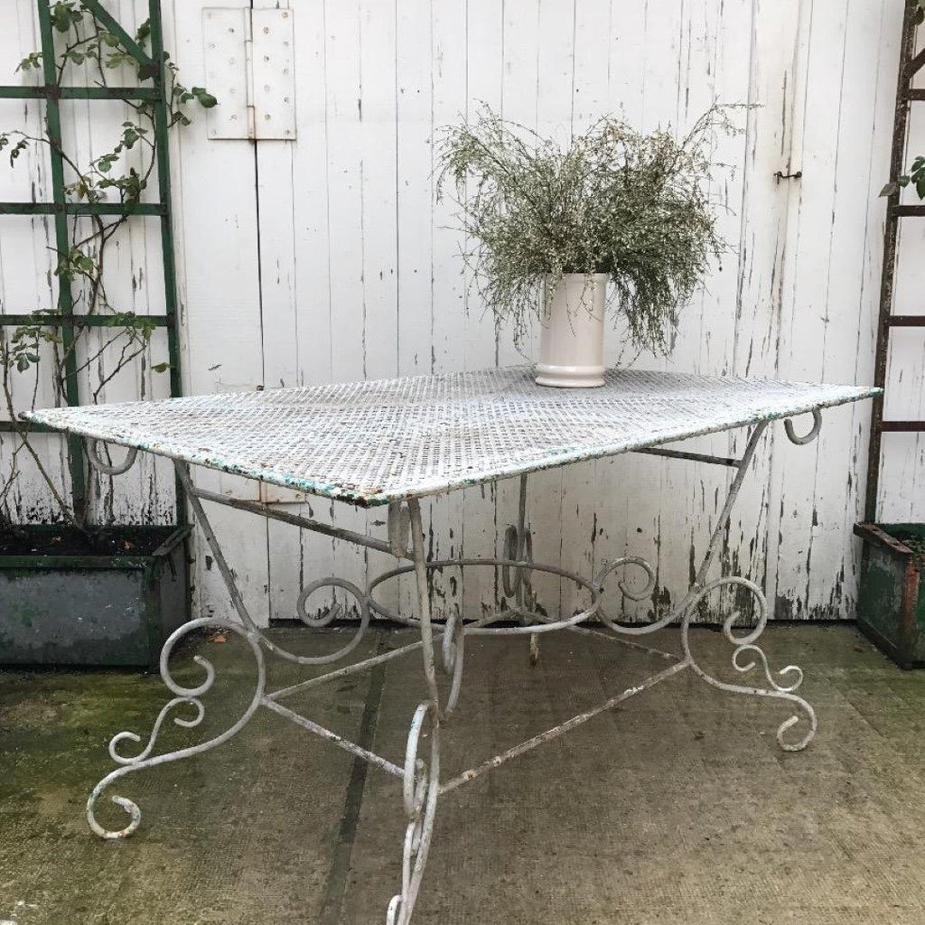 Garden Table with Perforated Top, E1-1702-NOM