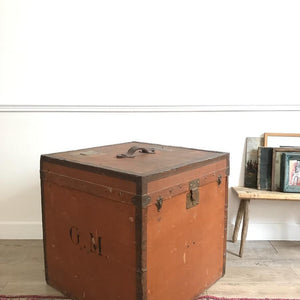 Square Leather Trunk