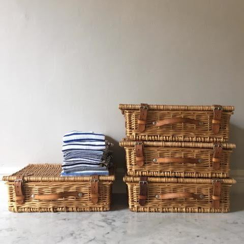 Wicker & Leather Suitcase
