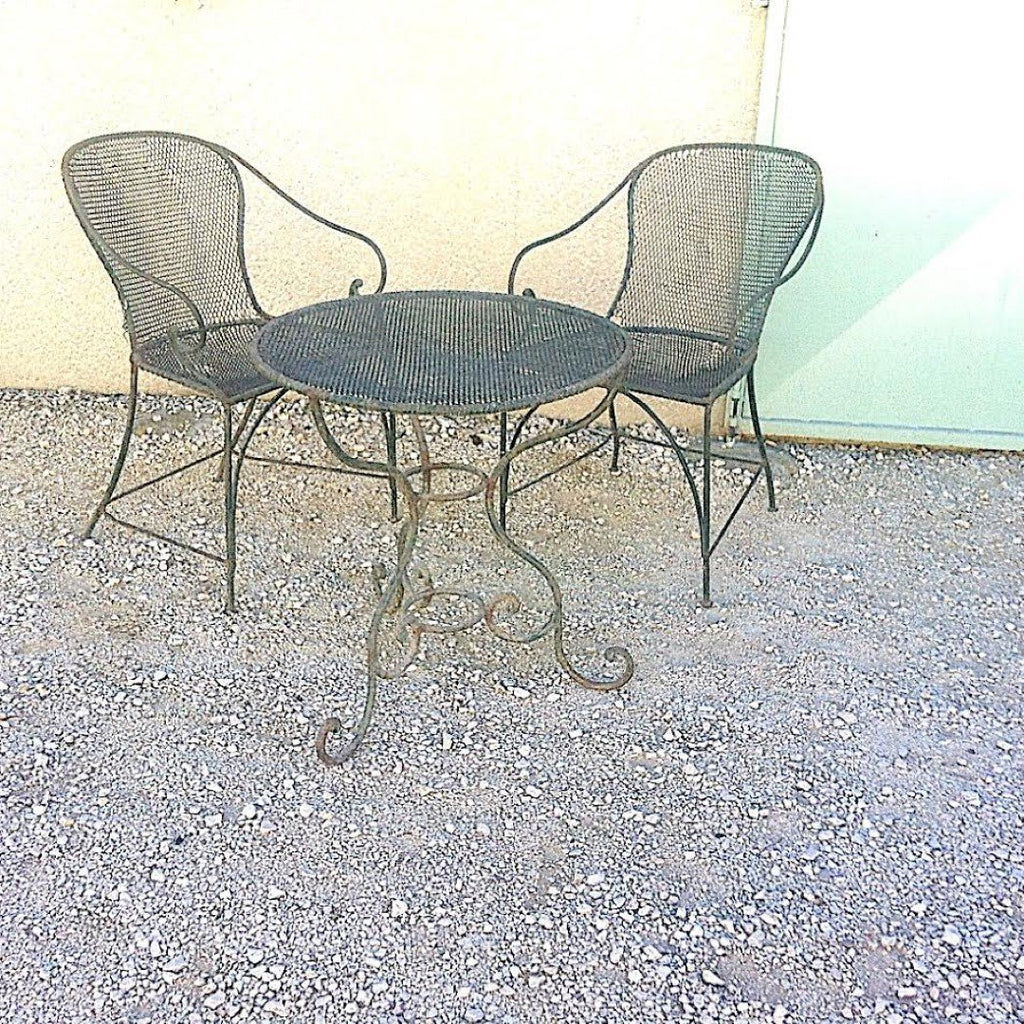 Mesh Garden Table-Mesh Garden Chairs, E12-1701-BL