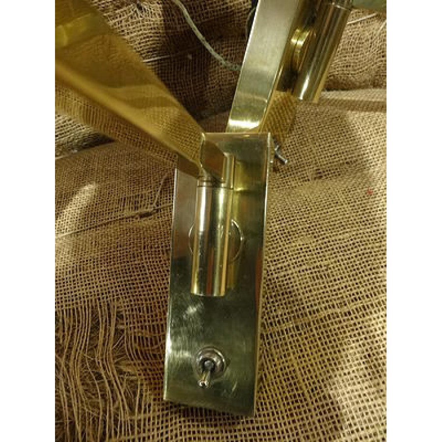 Pair of Brass Swing Arm Sconces