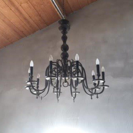 10-Light Brass Chandelier, E2-1611-AB