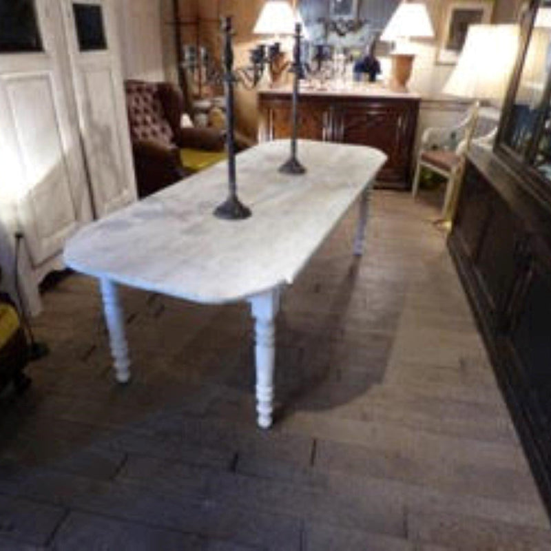 Painted Dining Table with Corner Details