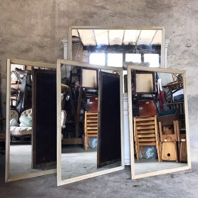Large Oak mirrors from a Tailor's shop