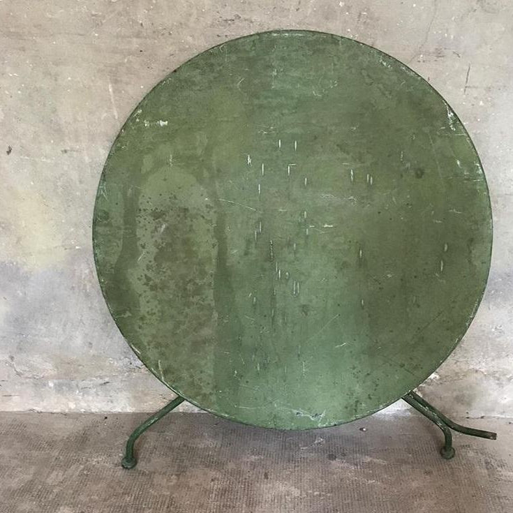Round Folding Green Table