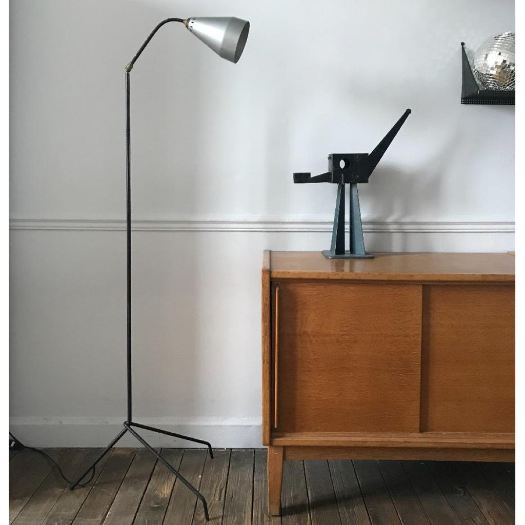 Metal & Brass Floor Lamp