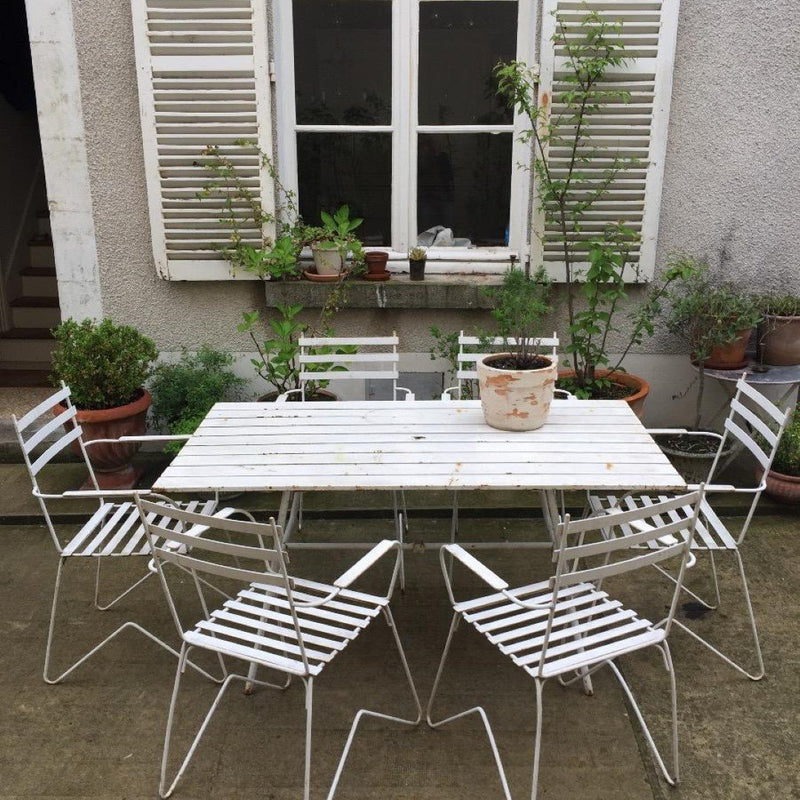 7 Piece White Garden Set