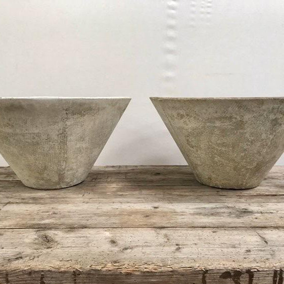 Pair of Round Willy Guhl Fiber Cement Planters