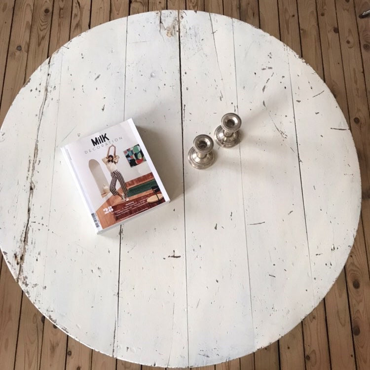 Pine Painted Round Coffee Table