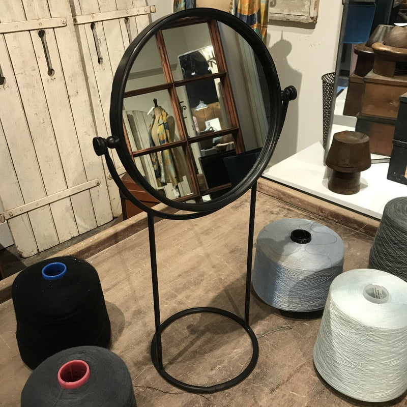 Round Swivel Mirror on Stand