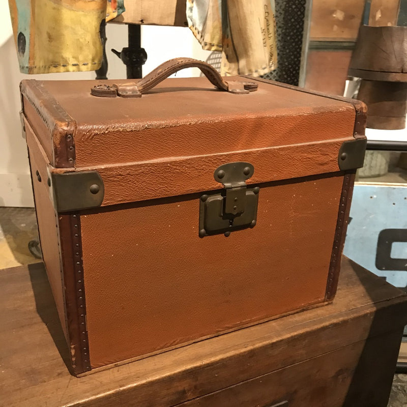 Leather Travel Case with Handle