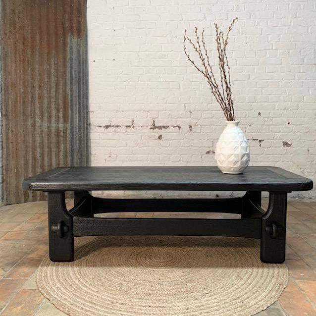 Oak Coffee Table Black