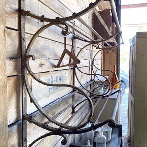 Wide Iron Train Hat Rack to Hang