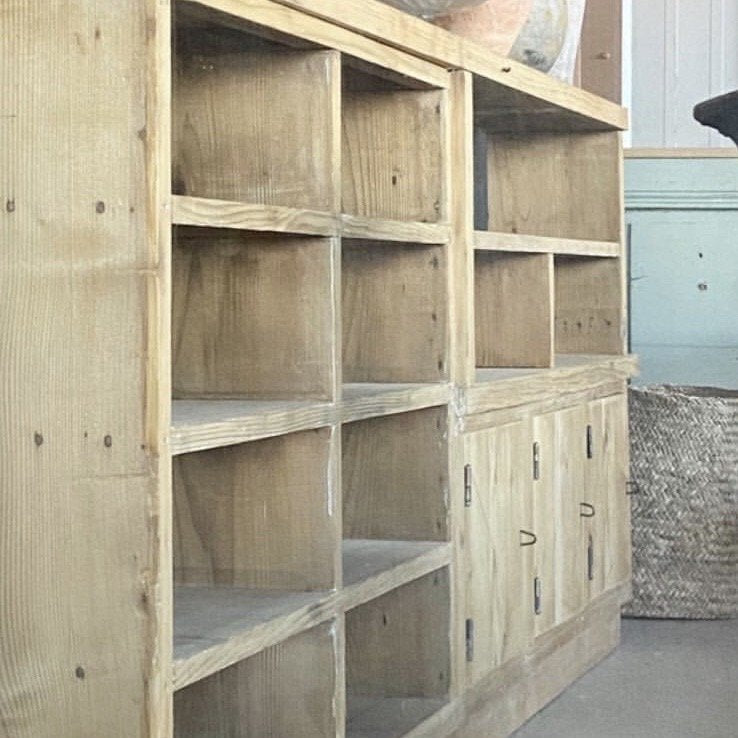 Pine Enfilade with Open Cubbies