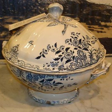 Blue and White Soup Tureen