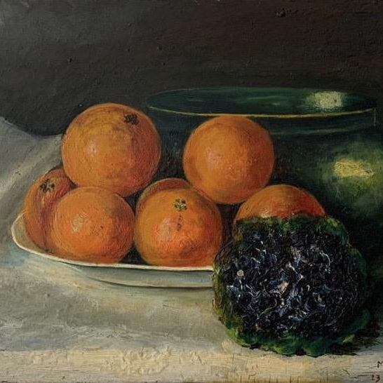 Painting - Oranges and Violets