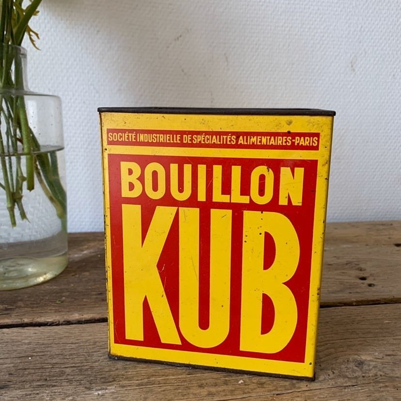 Bouillon Cube Tin Box