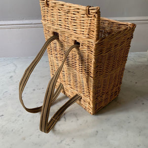 Basket with back straps