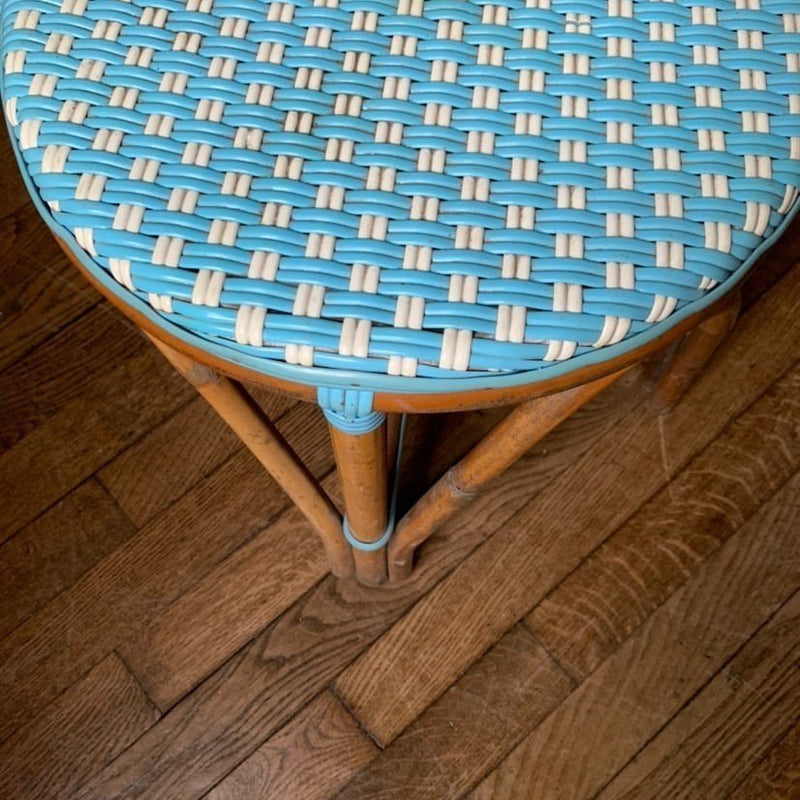 Blue & White Woven Bistro Chairs (Set of 4)