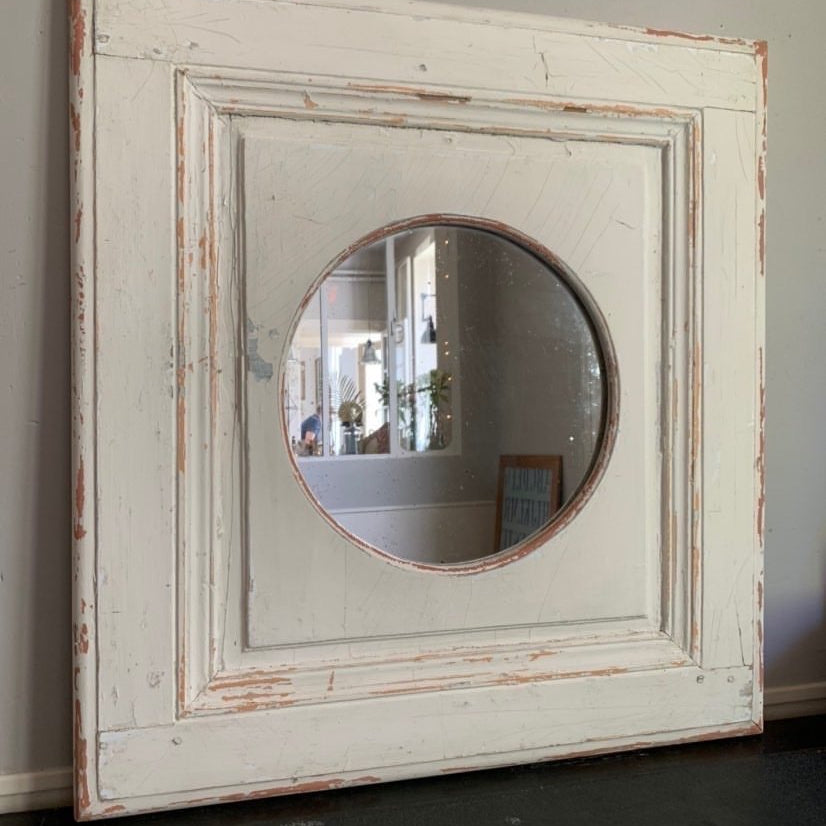 Round Mirror in 19th Century Frame