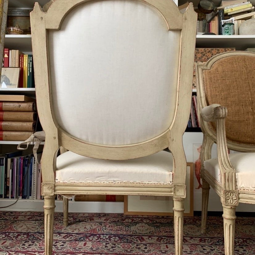 Pair Of Louis XVI Style Arm Chair