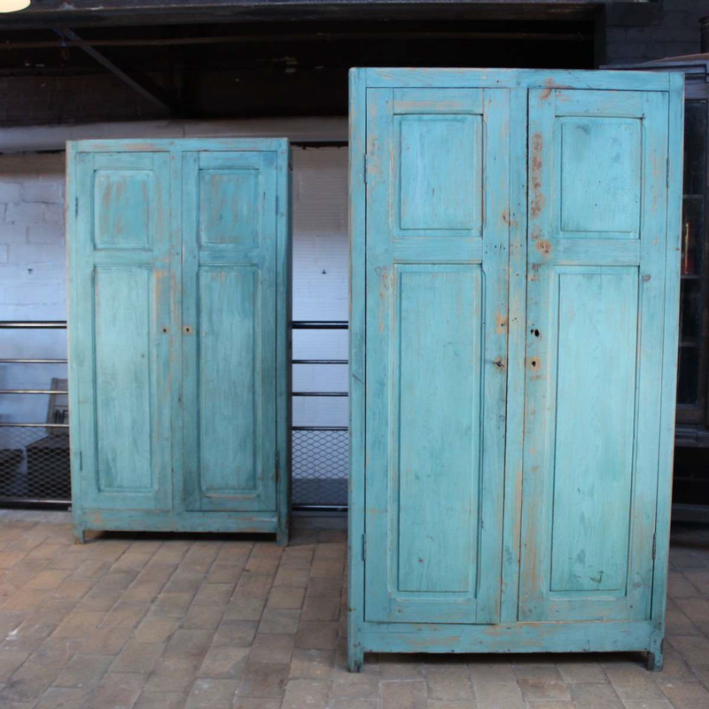 Blue Painted Cupboard