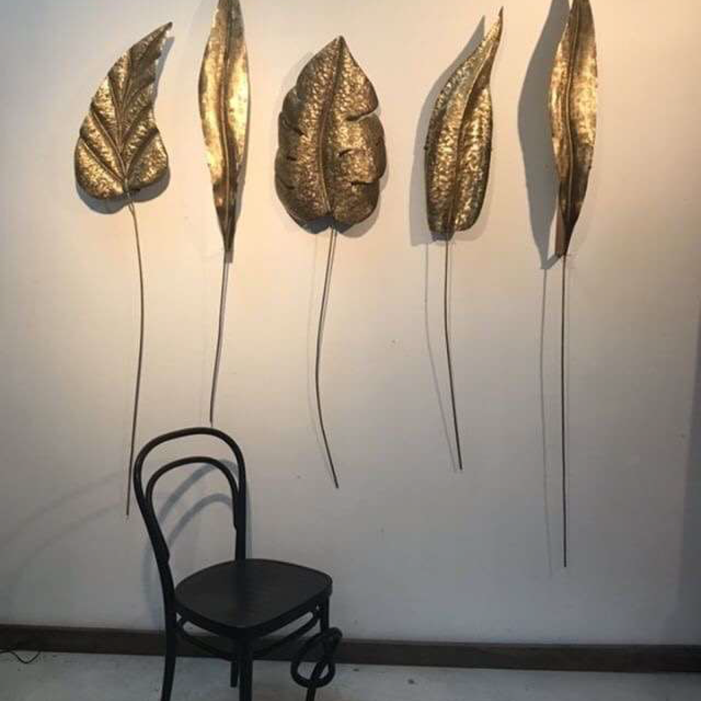 Enormous Brass Leaf Sconces