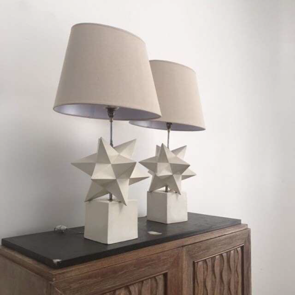 Plaster And Resin Lamp