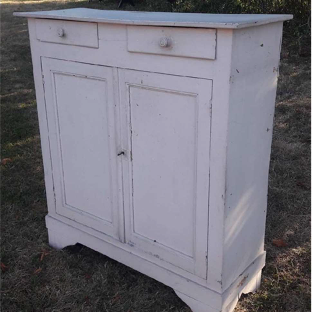 White Painted Cabinet With Drawer