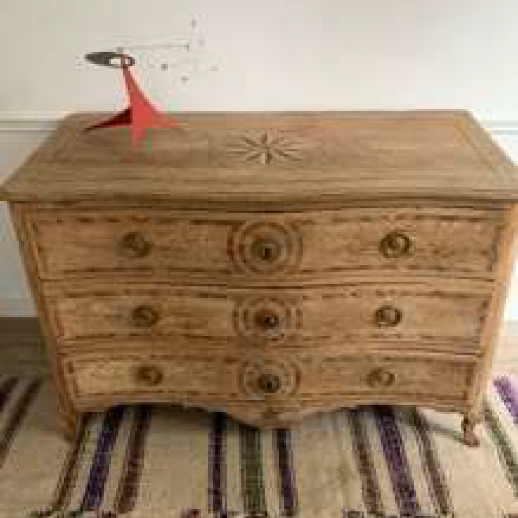Bleached Oak Commode with Marquetry