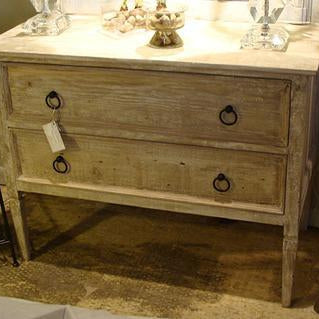 Reclaimed Wood Dresser with 2 Drawers