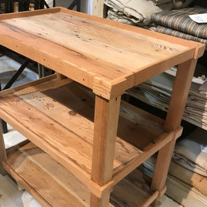 Reclaimed Lumber Three-tier Side Table