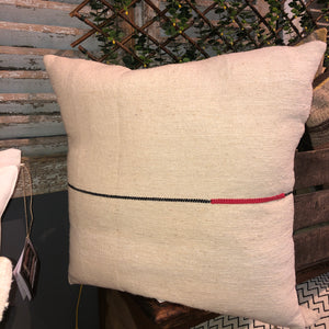 Red Line Square Pillow