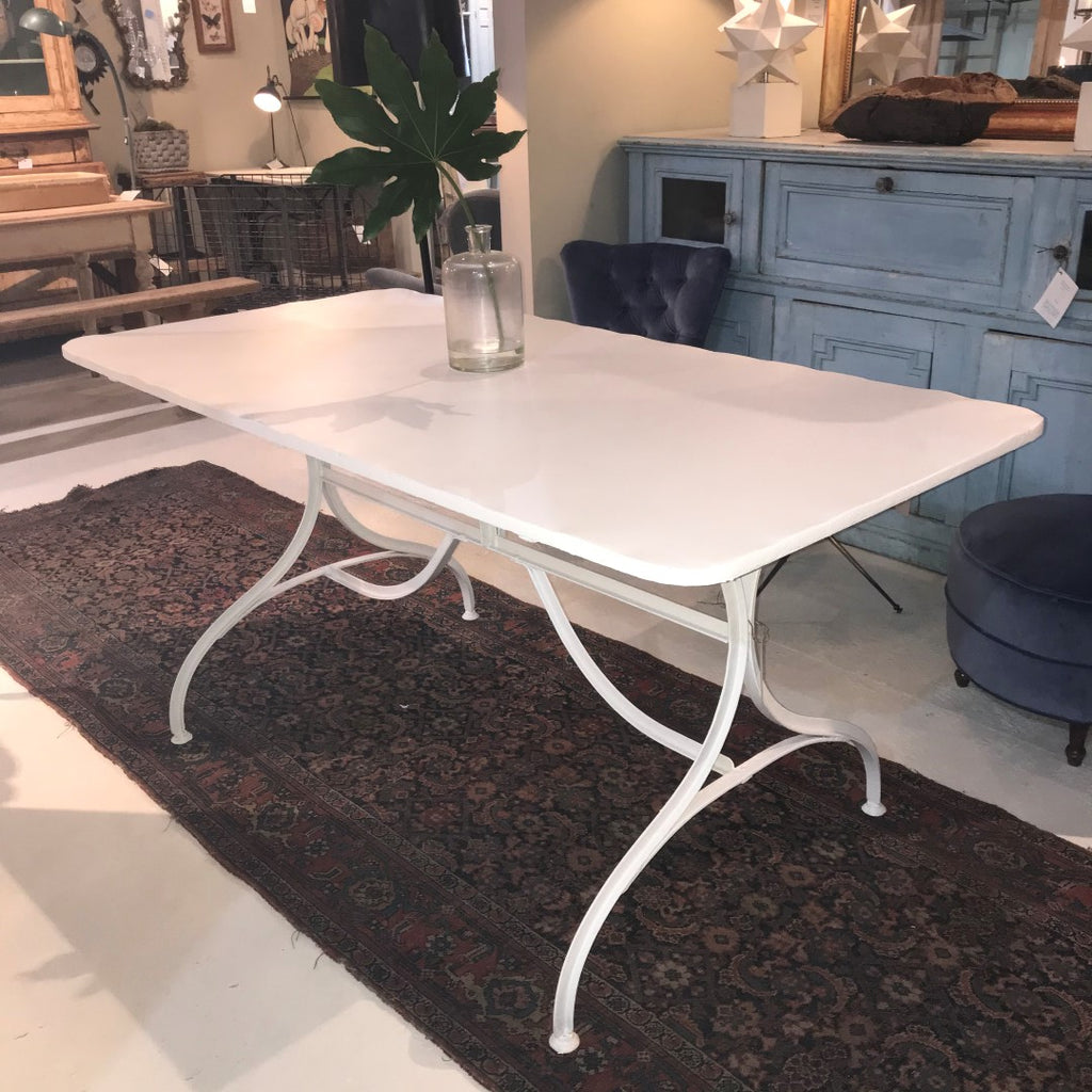 Rectangular Iron Painted Garden Table